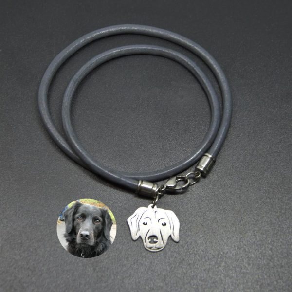 Personalisiertes Armband, aus Leder, glatt